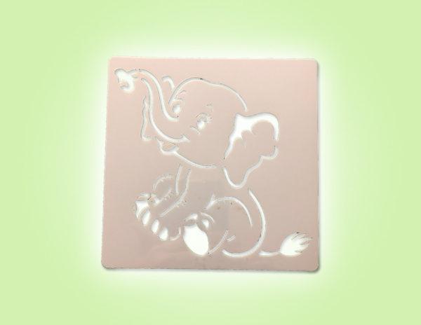 Keramik zuhausemalen.de | Schablone Elefant 13 × 13 cm Schablonen & Stempel