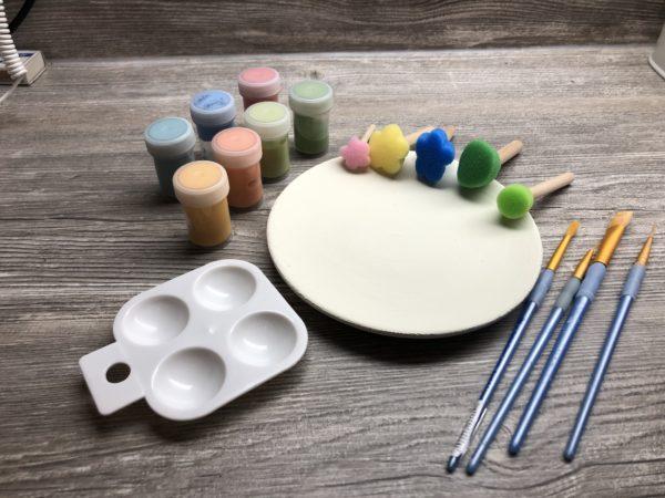 Keramik zuhausemalen.de | Stilstempel/Blümchen 5erSet Pinsel und Malzubehör