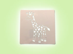 Keramik zuhausemalen.de | Schablone Giraffe 13 × 13 cm Schablonen & Stempel