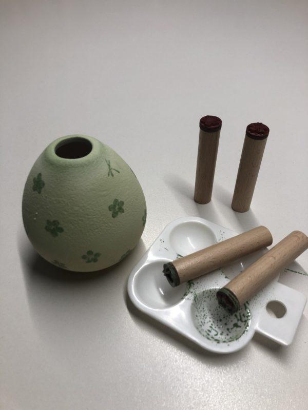 Keramik zuhausemalen.de | Holzstiel-Stempel Schmetterling Motiv 5 Schablonen & Stempel