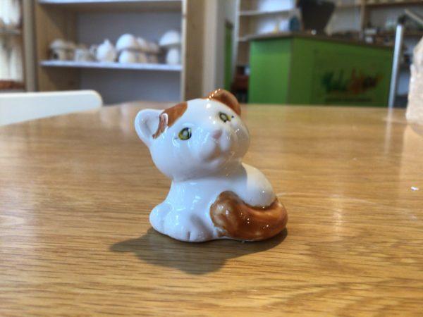 "Keramik zuhausemalen.de | Mini Katze  H 3cm <span style=""font-size: 10px"">(Farbgröße XXS)</span> unsere kleinen Littels"
