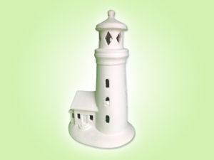 Keramik zuhausemalen.de | Leuchtturm Laterne Höhe 20 cm (Farbgröße M) Allerlei Utensilien