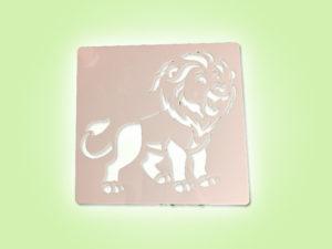 Keramik zuhausemalen.de | Schablone Löwe 13 × 13 cm Schablonen & Stempel