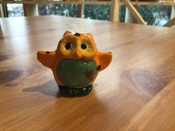 "Keramik zuhausemalen.de | Kleine Mini Eule/ Uhu Höhe 4,5 cm <span style=""font-size: 10px"">(Farbgröße XXS)</span> unsere kleinen Littels"