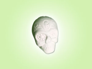 "Keramik zuhausemalen.de | Mini Totenkopf H3,5cm <span style=""font-size: 10px"">(Farbgröße XXS)</span> unsere kleinen Littels"