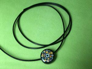 Keramik zuhausemalen.de | Lederband schwarz Länge 80cm ø2mm Perlen & Anhänger