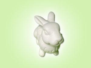 Keramik zuhausemalen.de | Hase Wuschel sitzend ( Farbegröße XS) Figuren