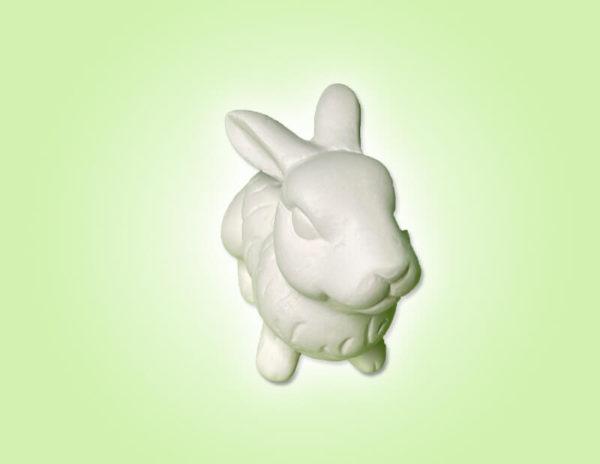 Keramik zuhausemalen.de   Hase Wuschel sitzend ( Farbegröße XS) Figuren