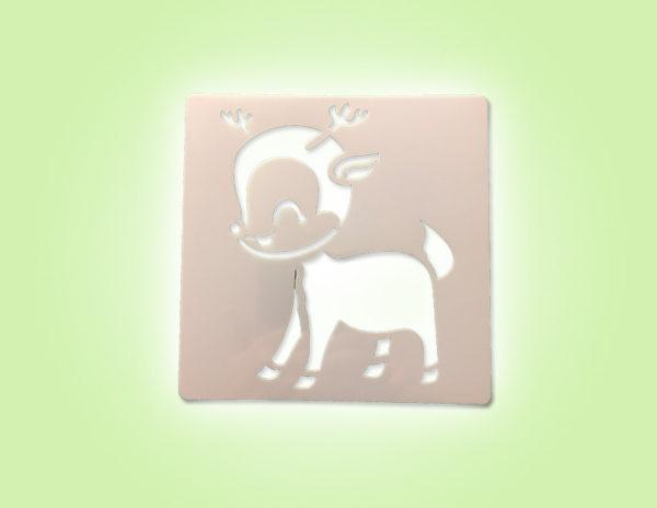 Keramik zuhausemalen.de | Schablone Rehlein 13 × 13 cm Schablonen & Stempel