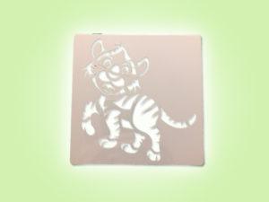 Keramik zuhausemalen.de | Schablone Tiger 13 × 13 cm Schablonen & Stempel