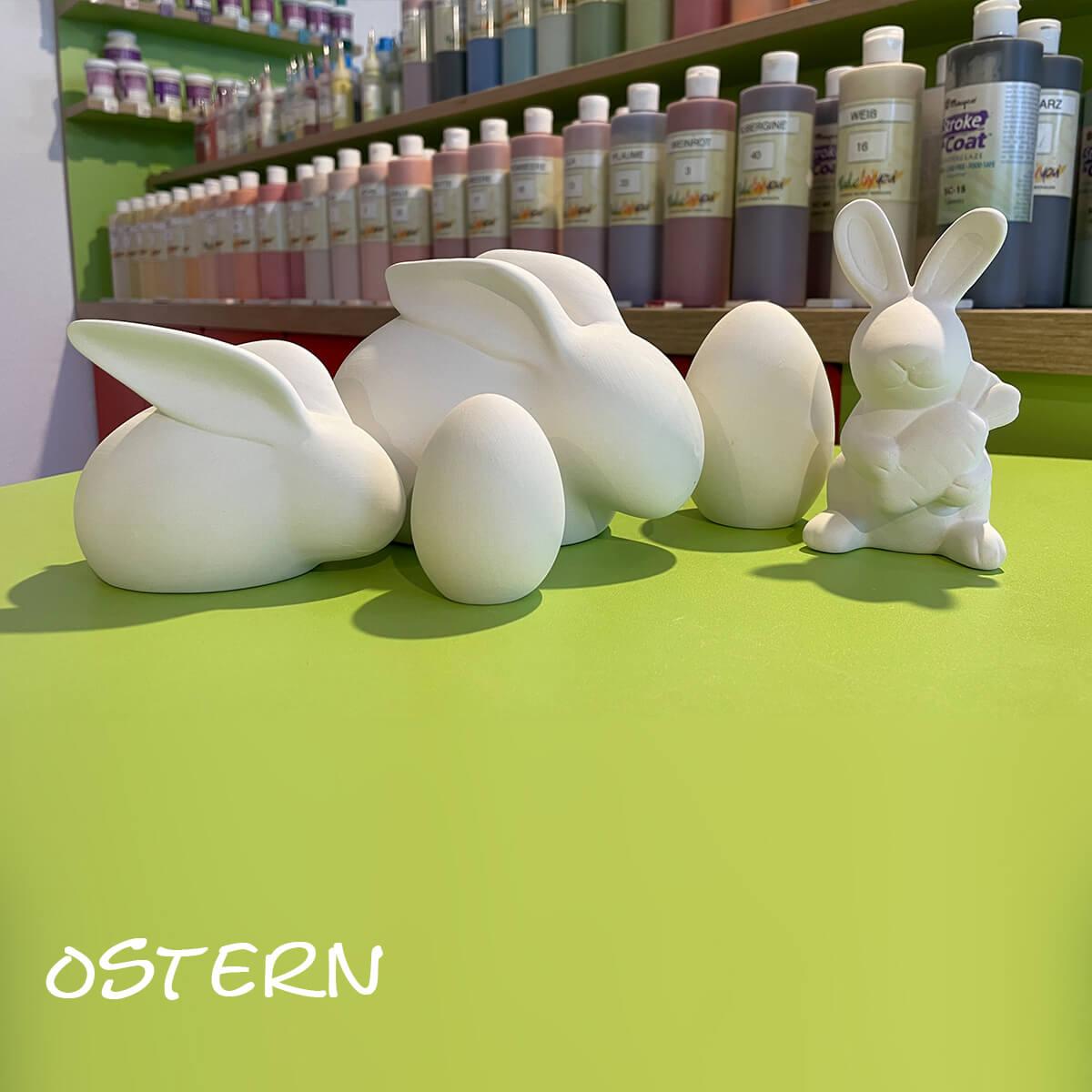 Ostern Keramik Zuhause selbstbemalen
