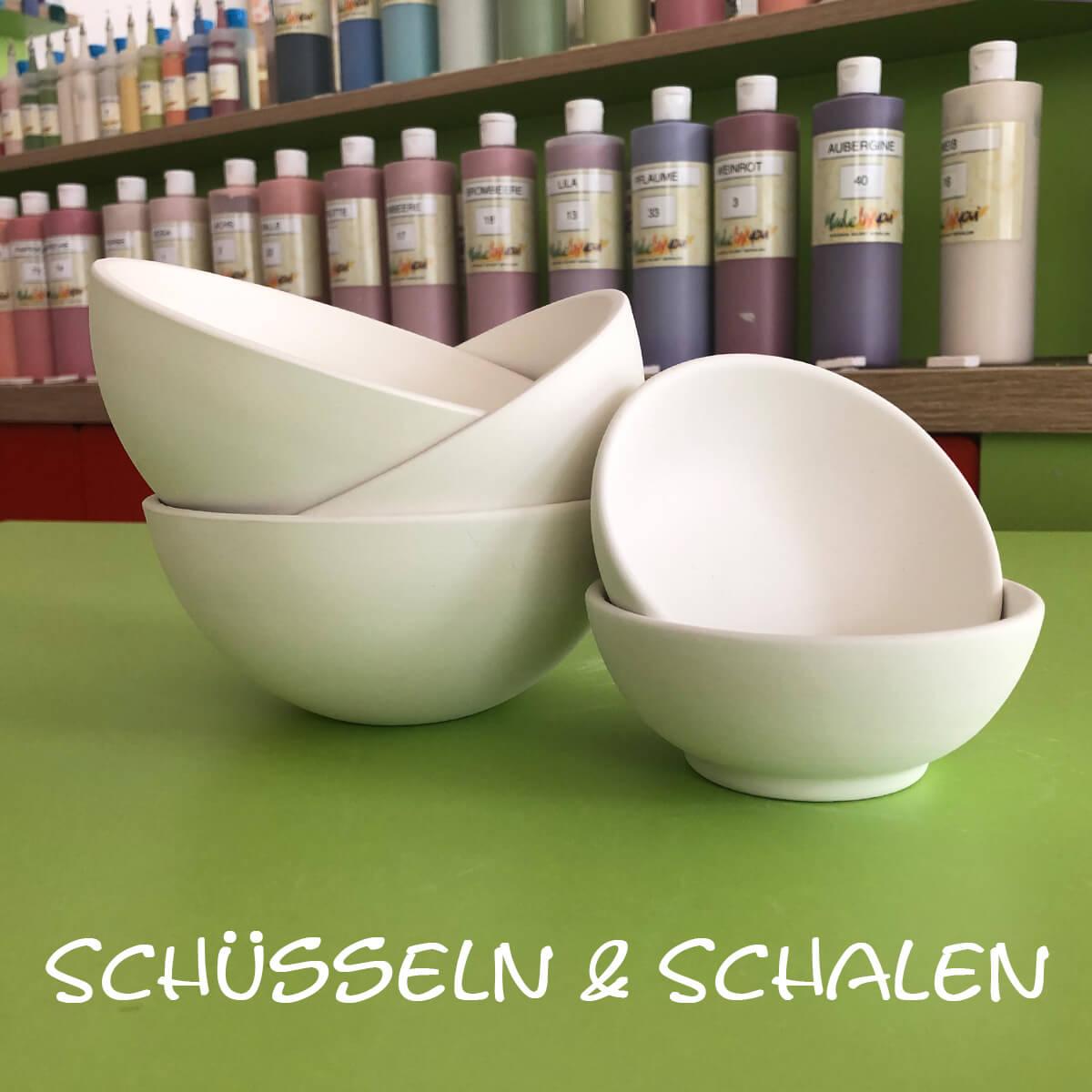 Keramik zum bemalen Schüsseln und Schalen