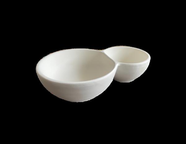 Keramik zuhausemalen.de | Chip & Dip Doppelschale 16x11cm ( Farbgröße M) Schüsseln&Schalen