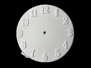 Keramik zuhausemalen.de   Uhren-Ziffernblatt ø24cm (Farbgröße M) Allerlei Utensilien