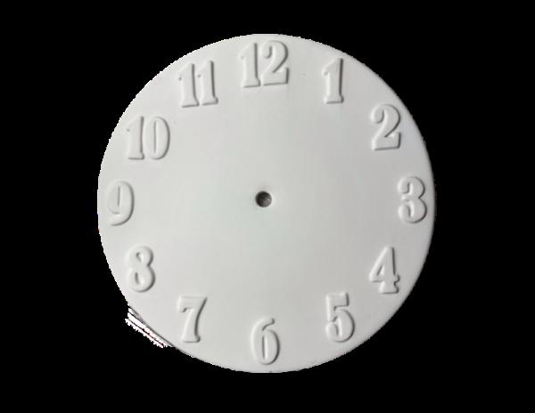Keramik zuhausemalen.de | Uhren-Ziffernblatt ø24cm (Farbgröße M) Allerlei Utensilien