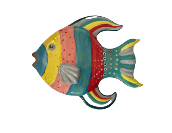 Keramik zuhausemalen.de | Fisch Relief Medium (Farbgröße M) Bad
