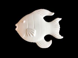 Keramik zuhausemalen.de | Fisch Relief klein (Farbgröße S) Bad
