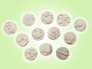 Keramik zuhausemalen.de | Sternzeichen 3D Addition ø 4,5 cm unsere kleinen Littels