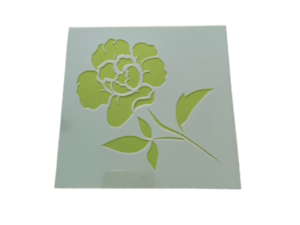 Keramik zuhausemalen.de | Schablone Blume Motiv 005 Schablonen & Stempel