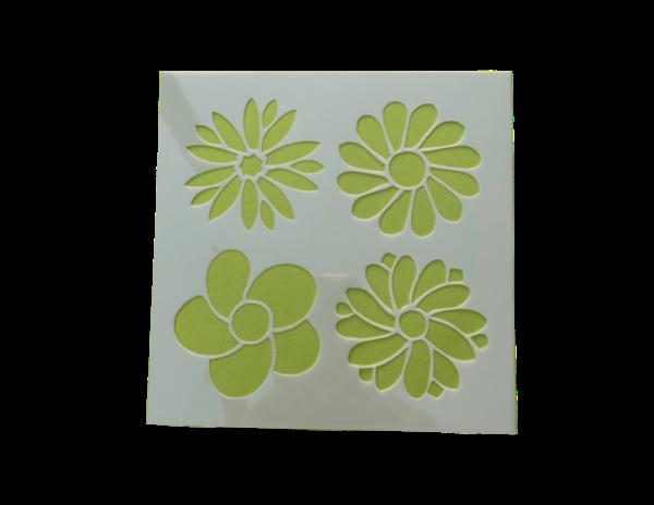 Keramik zuhausemalen.de | Schablone Blumen Motiv 007 Schablonen & Stempel