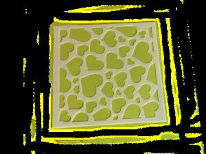 Keramik zuhausemalen.de | Schablone Love 13x13cm Schablonen & Stempel