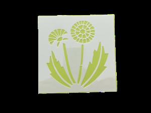 Keramik zuhausemalen.de | Schablone Blume Motiv 004 Schablonen & Stempel