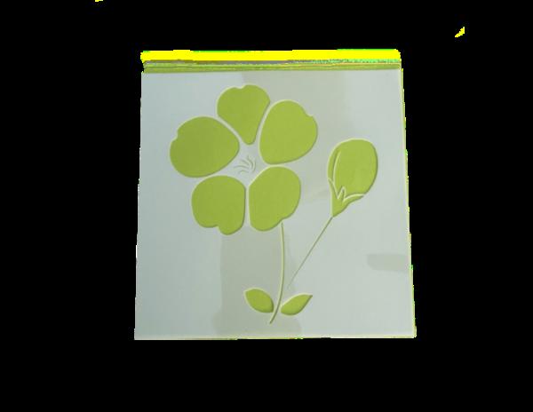 Keramik zuhausemalen.de | Schablone Blume Motiv 006 Schablonen & Stempel