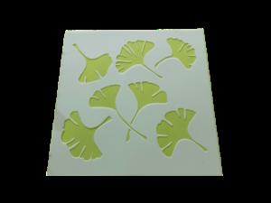 Keramik zuhausemalen.de | Schablone  Gingkoblätter Schablonen & Stempel