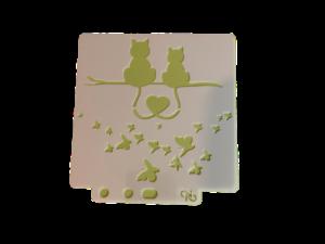 Keramik zuhausemalen.de | Schablone Cats 13x13cm Schablonen & Stempel
