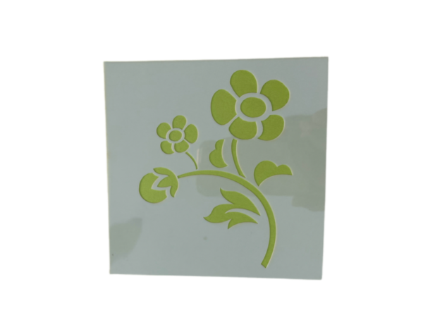 Keramik zuhausemalen.de | Schablone Blumen Motiv 002 Schablonen & Stempel