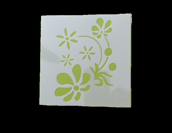 Keramik zuhausemalen.de | Schablone Blume Motiv 001 Schablonen & Stempel