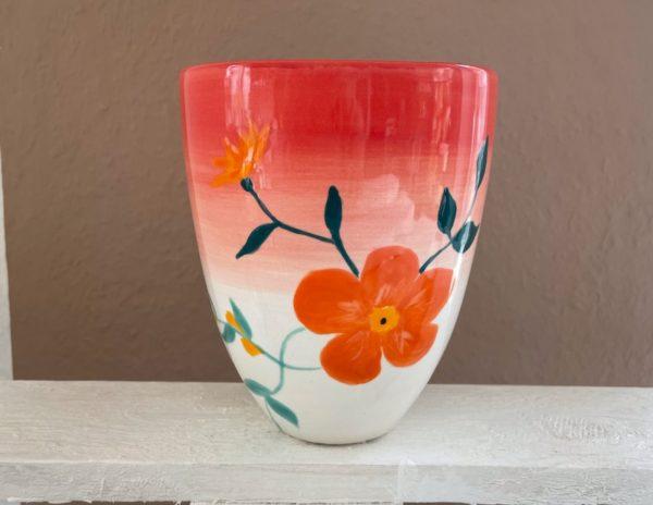 Keramik zuhausemalen.de | Konische Vase (Farbgröße M) Vasen