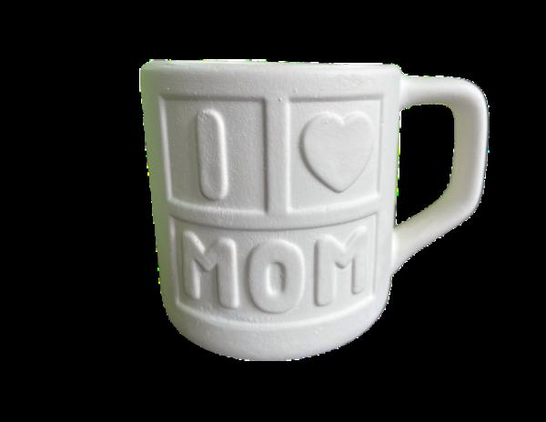 Keramik zuhausemalen.de | Tasse MOM (Farbgröße M) Muttertag