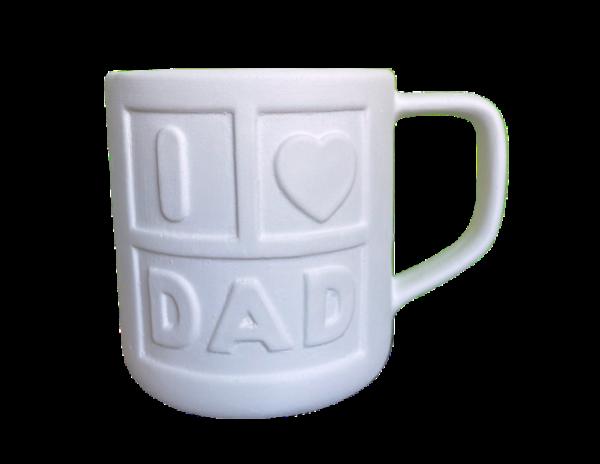 Keramik zuhausemalen.de | Tasse DAD (Farbegröße M) Tassen&Becher