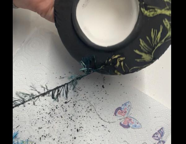 Keramik zuhausemalen.de | Wolle für Fadentechnik -1m Pinsel und Malzubehör