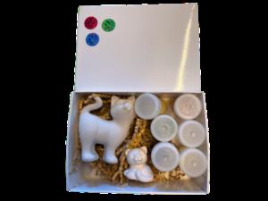 Keramik zuhausemalen.de | Geschenk-Set Kitty Geschenk-Boxen